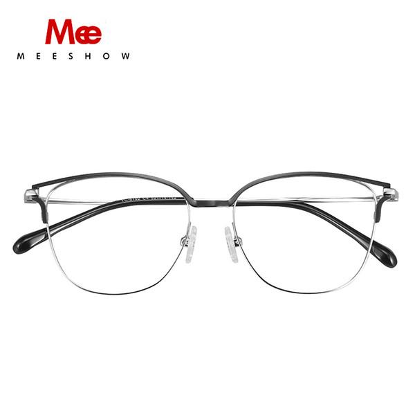 Meeshow NEW Year titane alliage lunettes cadre femmes hommes lunettes optique lunettes de prescription optique cadre myope