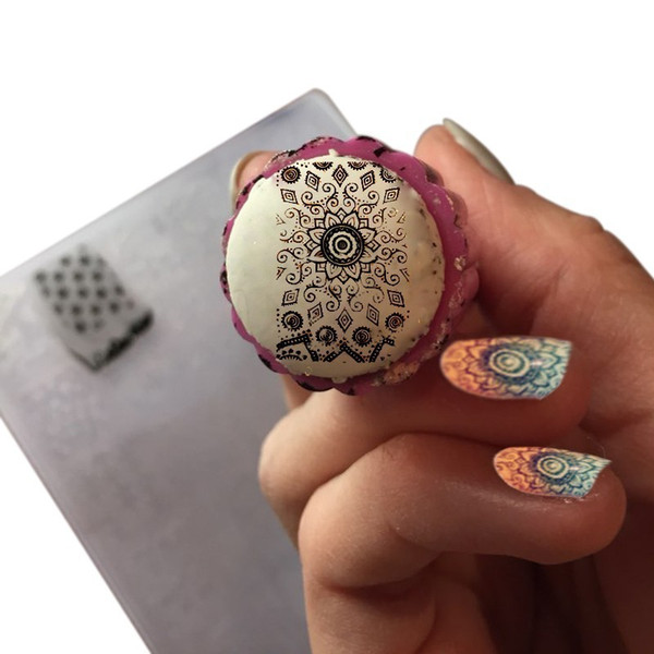 Acrylic Fashion New Nail Art Templates Plastic Lace Flower Many Design Stamp Polish Nail Stamping Plates