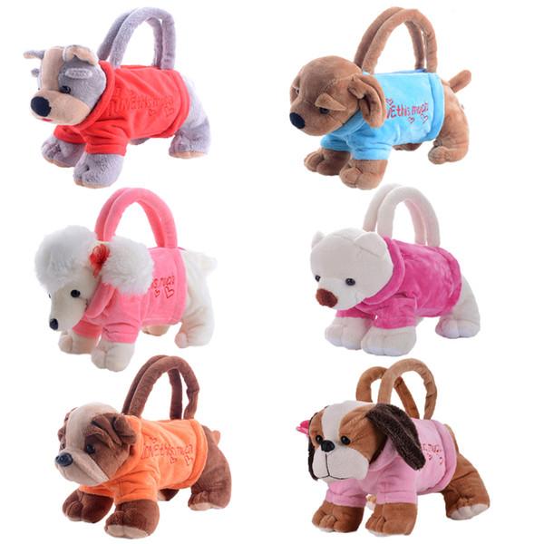 children Gloveleya Plush Cartoon Dogs for Kids Coin Holder 3D Poodle Schnauzer Toys for Children Girls Best New Year
