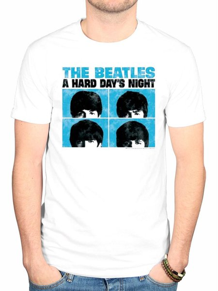 Official The Beatles Hard Days Night T-Shirt Lennon McCartney Lonely Hearts
