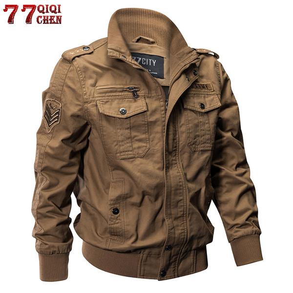 qiqichen tactical jacket men autumn cotton male casual flight jackets hombre plus size 6xl bomber jacket men - from $38.32
