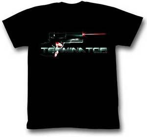 The Terminator 80's Movie 45 With Laser Sights Adult T Shirt