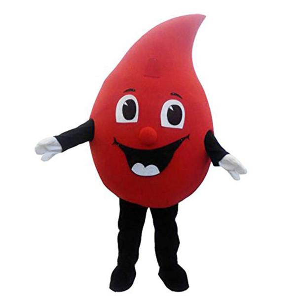Venta Venta caliente Nuevo especial personalizado rojo Gota de sangre traje de mascota de dibujos animados disfraces