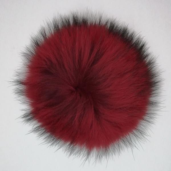 Echtpelz Pompons 13-14cm DIY Splitter Fuchs Waschbär Pelz Pom Poms Balls Naturpelz Pompon Für Hüte Taschen Schuhe Zubehör