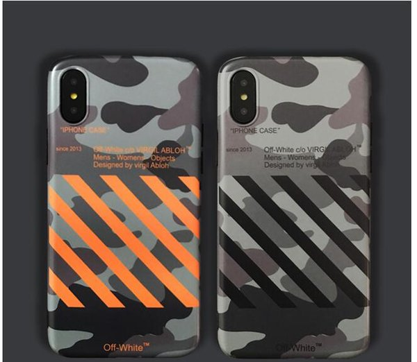 2019OW new iphone English off camouflage xs max / xr mobile phone shell iPhone7plus / 8 / soft shell