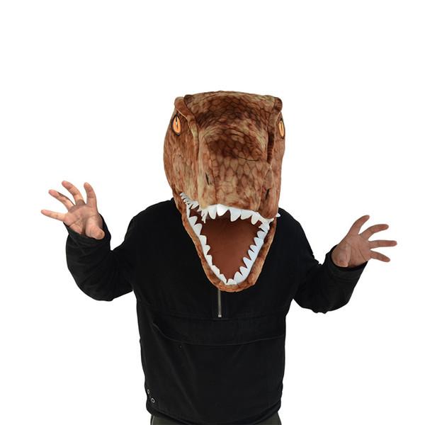 Dinosaurierkopf zwei Farben erhältlich Gefahr Form neue Stil Kopf Maske Maskottchen Kostüm Gesichtsmaske
