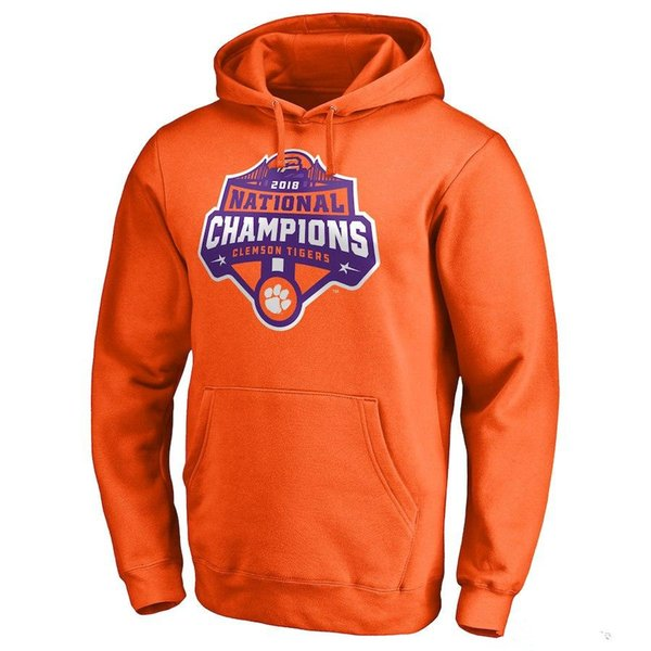 Großhandel Clemson Tigers Hoodies College Football Playoff 2018 Nationale Champions Harte Zählung Zeitplan Shirt Cotton Bowl Champions Sweatshirts Von
