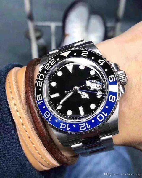 Relógios mecânicos automáticos de venda quentes do homem do relógio 2019 Relógios mecânicos automáticos dos relógios de aço inoxidável dos homens 40mm