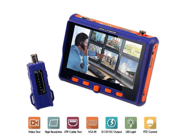 "NEW-CCTV Tester Camera Tester 5"" LCD Monitor Analog AHD TVI CVI VGA Video Audio PTZ RS485 Test Portable Wrist Tester Tool"