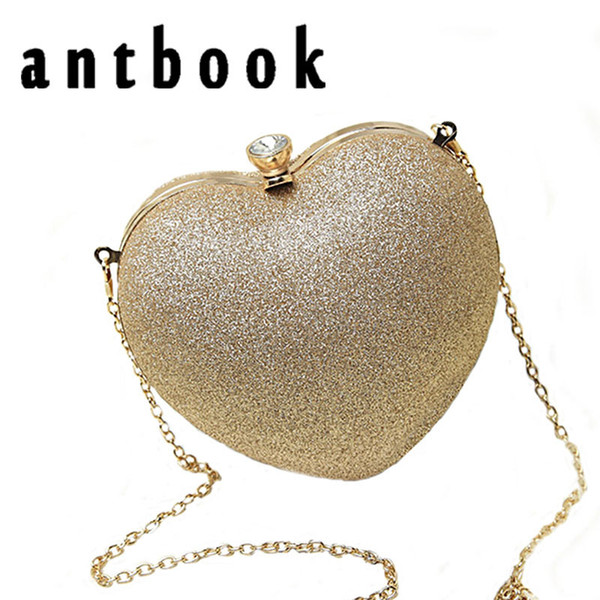 Antbook Women Heart Pearl Fashion Evening Part Time Must Have Best Chain Shoulder Messenger Bag Mobile Phone Case J190613