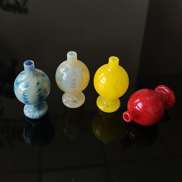 Embriagadora de cristal coloreada capsula Carb Carb Cap bol de vidrio con mango de cuerno de 14mm conjunta para fumadores térmicas Accesorios cuarzo Banger