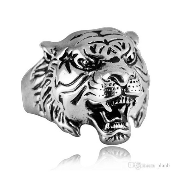 ed8d071f16755 Super Quality Punk Rock Mens Biker Rings Vintage Gothic Skeleton Silver  Jewelry 18K Gold Plated Tiger Skull Ring Men US Size Simple Engagement  Rings ...