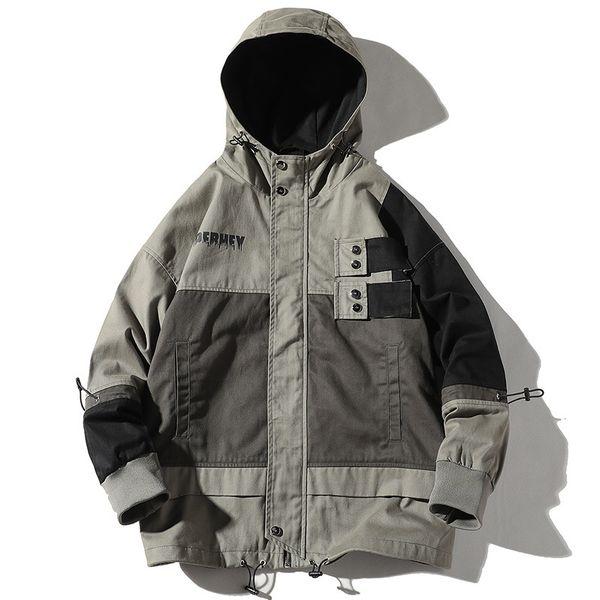 ICPANS Winter-mit Kapuze Hip Hop Street Jacket Man Maxi-losen Jacken Herren Patchwork Color Coats Mode Anzug