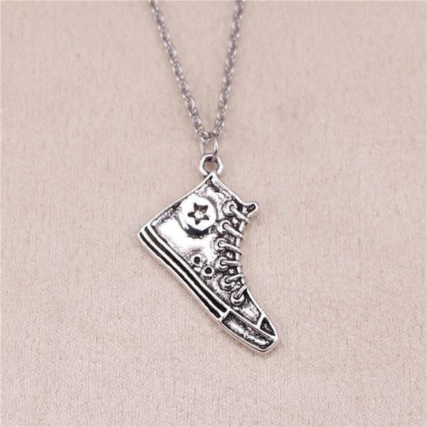 New Fashion Tibetan Silver Pendant basketball shoes 30mm Choker Charm Short Long DIY Necklace Factory Price Handmade Jewelry