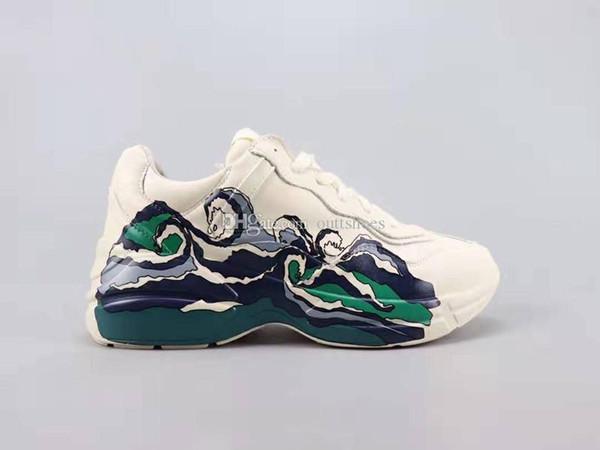(Avec boîte) Livraison Gratuite Rhyton Chaussures Décontractées Avec Vague De Haute Qualité Mans Femmes Designer Sneaker