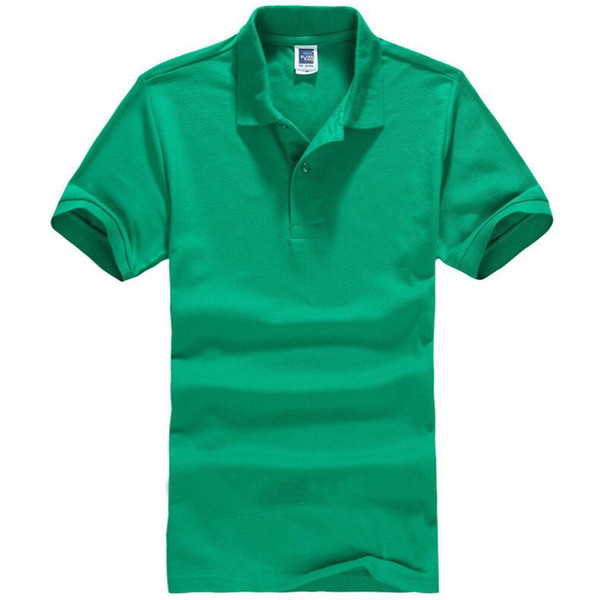 201 9Polo Erkekler Gömlek Erkek Kısa Kollu Katı Gömlek Camisa Polos Masculina Rahat pamuk Artı boyutu 3XL Marka Tees Tops