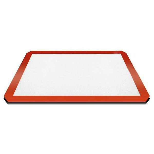 Küche Antihaft Silikon Backmatte Teig Rollmatte Kuchen Cookie Sheet Liner, rot + weiß