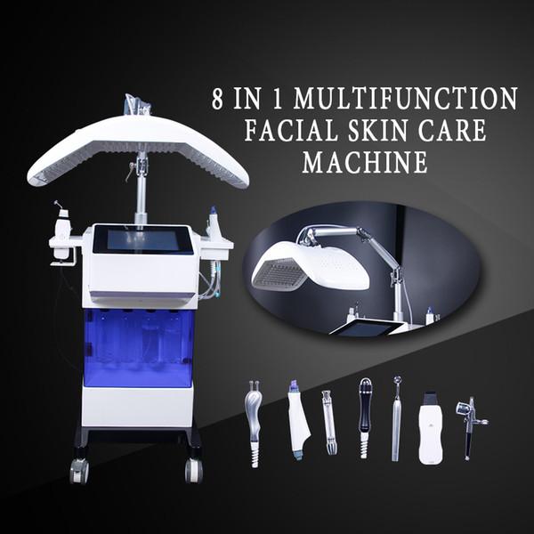 Профессиональный Hydro Microdermabrasion hydra facial Уход за кожей Очиститель воды aqua Jet Кислородный пилинг Spa Машина дермабразии со светодиодом PDT
