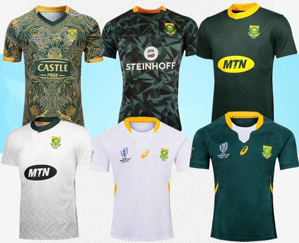 top popular 2019 world cup South Africa 100 years rugby Jersey shirt South African national team rugby jerseys shirts 100th Anniversary jersey s-3xl 2019