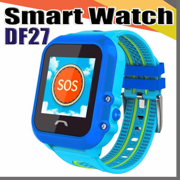 DF27 IP67 Impermeabile per bambini GPS GPS telefono intelligente orologio SOS Chiamata posizione dispositivo Tracker per bambini sicuro monitor anti-perso