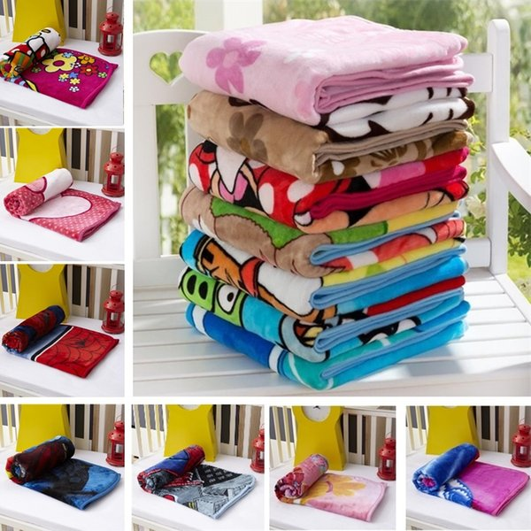 best selling Hot Kids Blankets Flannel spider Cat dogs bear styles Warm cartoon Blankets Smooth Flannel Blankets Baby Bedding Swaddling Blanket 100*140cm