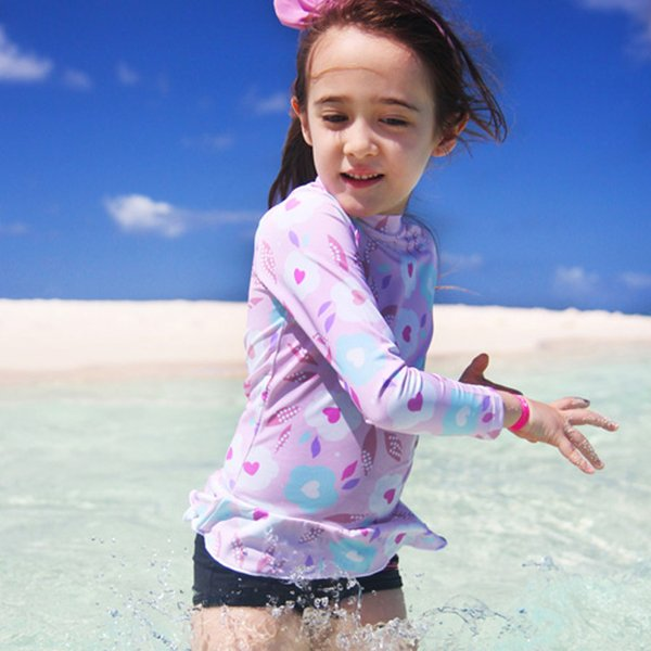 Duas Peças da menina Terno para a Natação Nova Praia de Verão Desgaste para Crianças Swimsuit rosa Maiô Swimwear Bonito Menina Nadar