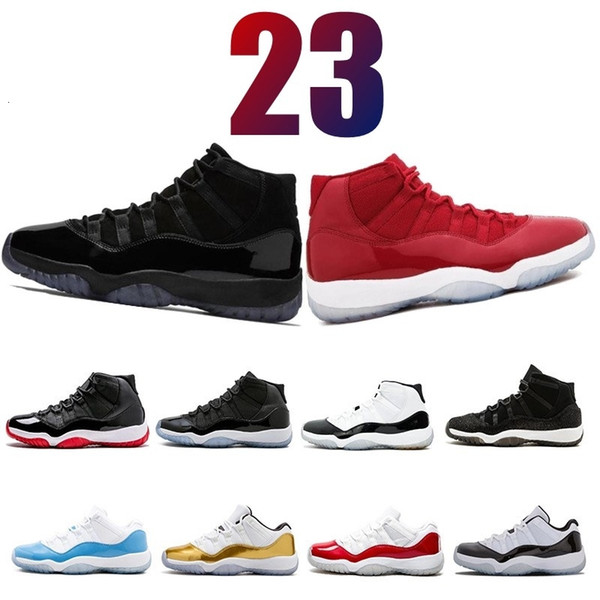 11 11'leri Cap ve Gelinlik Gece Erkek Basketbol Ayakkabı Spor Kırmızı PRM Heiress Barons Üniversitesi Legeng mavi 72-10 erkek spor Sneaker tasarımcısı Bred