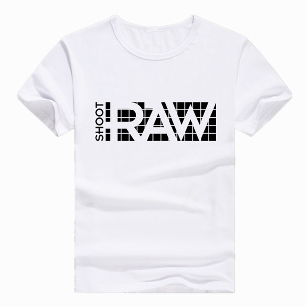 Asian Size Print I Shoot RAW Photo Photographer Camera T-shirt Short sleeve O-Neck Tshirt For Men Women Polyester HCP4026