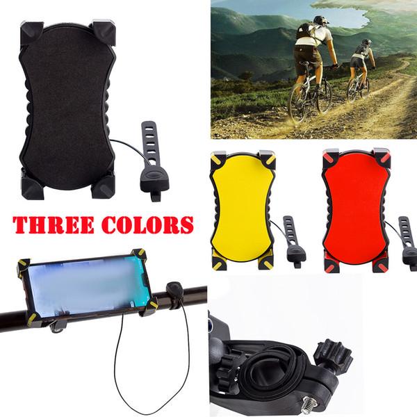 360 degrees rolate Anti-slip Phone Mount Handlebar Holder Extender+bell Shockproof Bike Riding Handlebars Adjustable Fits GPS
