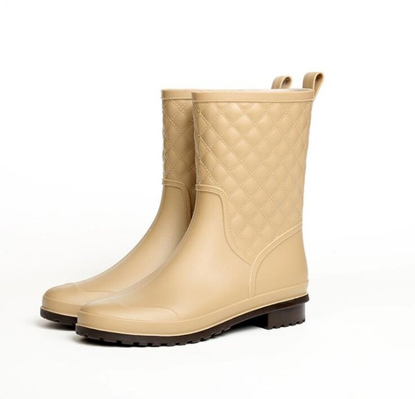 Rain Boots Women Waterproof Shoes Ankle Rubber Boots High Heel Rain Boots Plus Size 36-41 Botines Mujer Boot s