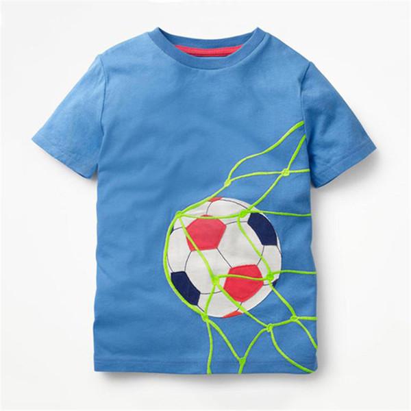 Baby Boys Solid T shrit Детские футболки из 100% хлопка с коротким рукавом Детские топы для мальчиков Спортивные футболки Летние футболки для девочек