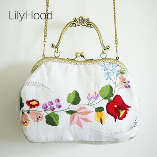 LilyHood brodé Kiss Lock sac à la main fleur shabby chic vintage rétro élégant chalet victorien rustique blanc sac à main Etsy D19011504