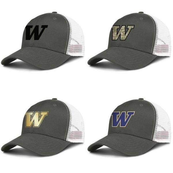 Erkek Örgü Şapka washington huskies futbol siyah logo Kadın Moda Havalandırma Snapback Kap kamuflaj Altın ABD bayrağı beyaz p ...