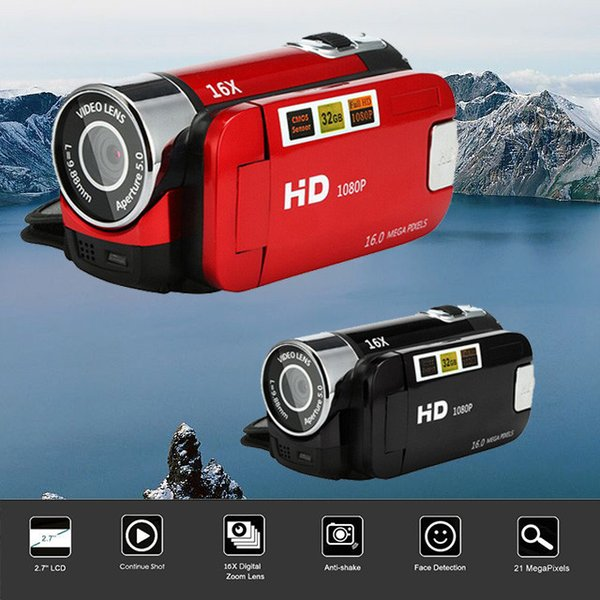 Video Kamera HD 1080 P El Dijital Kamera 16X Dijital Zoom mini kamera giyilebilir cihazlar sualtı