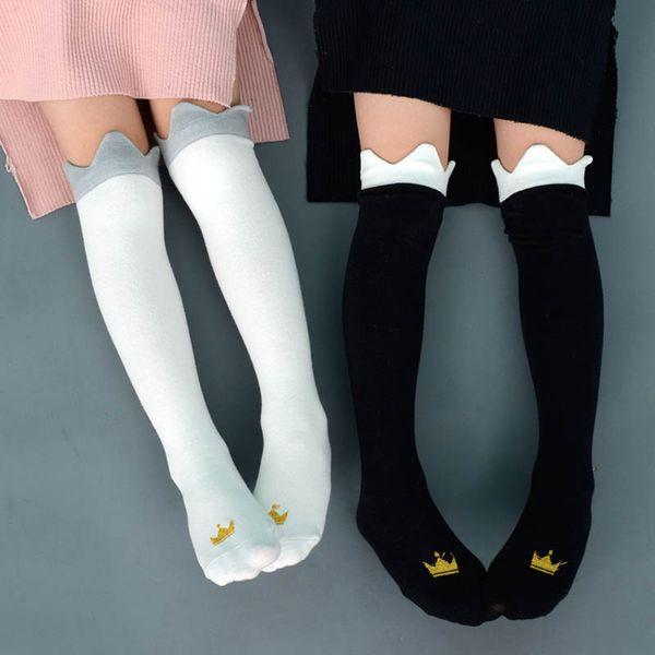 Calcetines para niños Calcetines de algodón para bebés Princesa coreana niños Knit Knee Calcetines altos Mejores calcetines para niños Calcetines para niños ropa de diseñador para niñas A3394