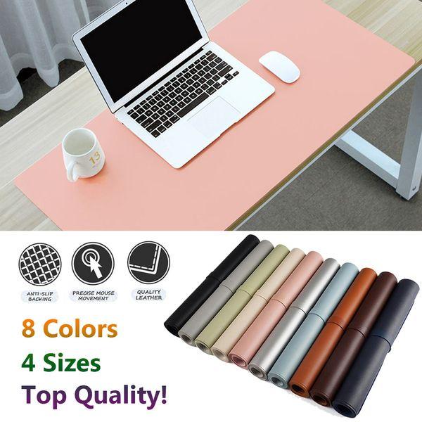 1 PC Top Quality Grande Escritório De Couro Macio Esteira de Mesa Do Computador Moderno Jogo de Mesa Teclado Mouse Pad Almofada Laptop