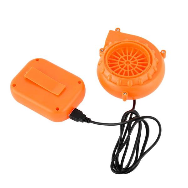DC 6V Portable Mini ventilateur électrique Blower pour poupée mascotte tête mode gaz Cartoon Costumes gonflables Énergique orange ventilateur