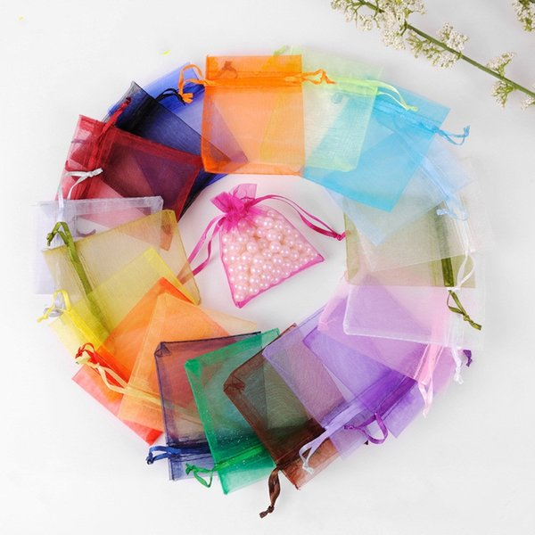 Wedding Decorations Baby Shower Organza Bags Jewelry Gifts Party Favor Candy Birthday Supplies Packaging Goodie 7*9cm DHL Free Shipping