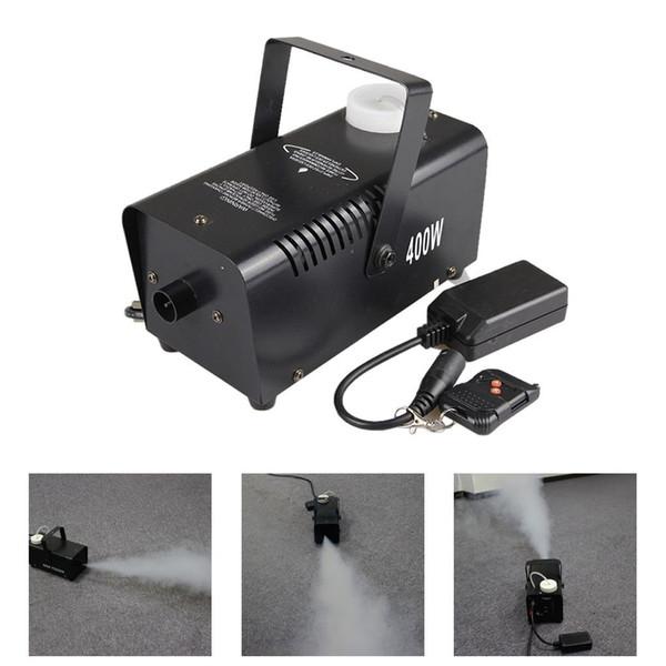 best selling AUCD Mini 400W White Smoke Remote Control Smoke Fog Machine Stage Light Effect W400