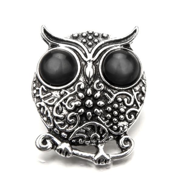 Nuovo zenzero di alta qualità misto molti stili gufo 18mm pulsante a scatto in metallo fascino strass pulsante stili zenzero scatta gioielli