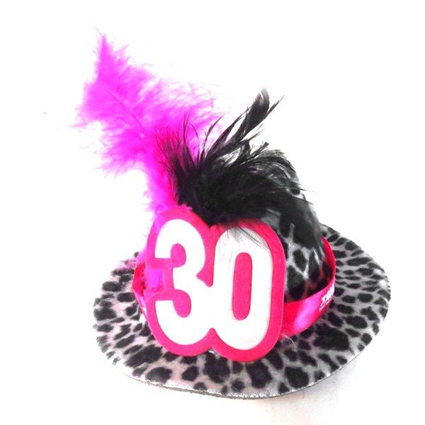 Compre 2020 Sombrero De Fiesta Mini Fedora En Nueva Pinzas Para El Cabello Diseñado Para Adultos Cumpleaños 30 40 50 Años De Lentejuelas Pluma De