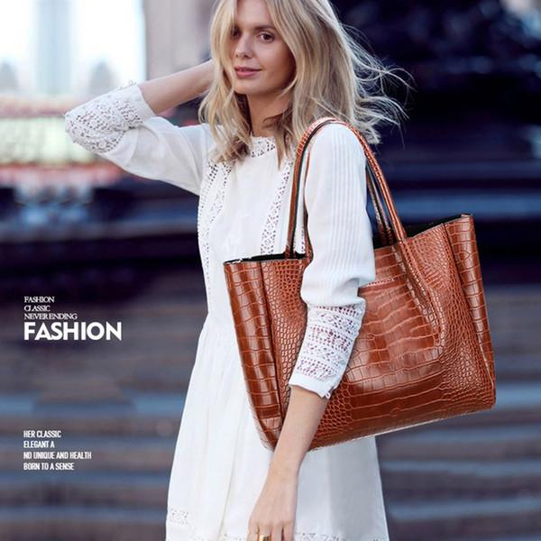 pelle borse borse di lusso della signora Women Large Shoulder Tote Bag femminile dell'unità di elaborazione delle donne del sacchetto di design Grande bolsa feminina