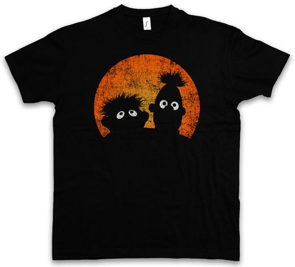 E & B PUPPETS T-SHIRT - Logo Ernie Movie TV and Series Bert Short Sleeve Plus Size t-shirt