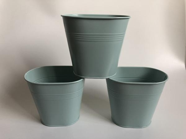 Light Blue Vase small Decorative table centrepieces Metal vase garden bucket tin box Iron pots Wedding Flower Planter