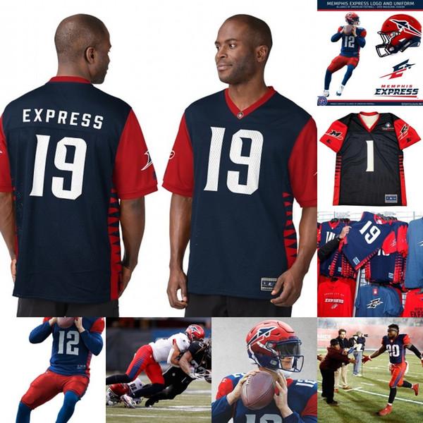 Mens Memphis Express Jersey 3 Josh Jasper 4 Brad Wing 44 Ryan Navarro 55 Davis Tull 70 Robert Myers Alliance of American Football Jerseys