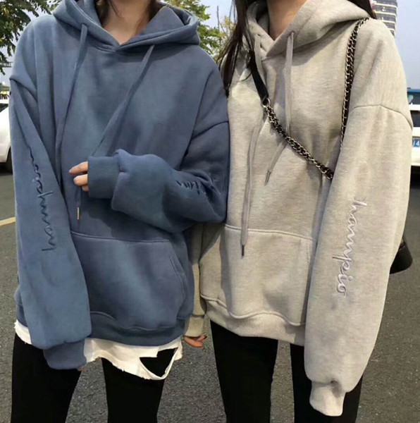 2019 moda mujer sudadera con capucha sudaderas con capucha pullover sudadera de manga larga ropa de mujer ropa de calle ropa de otoño otoño primavera camisetas tops deportes