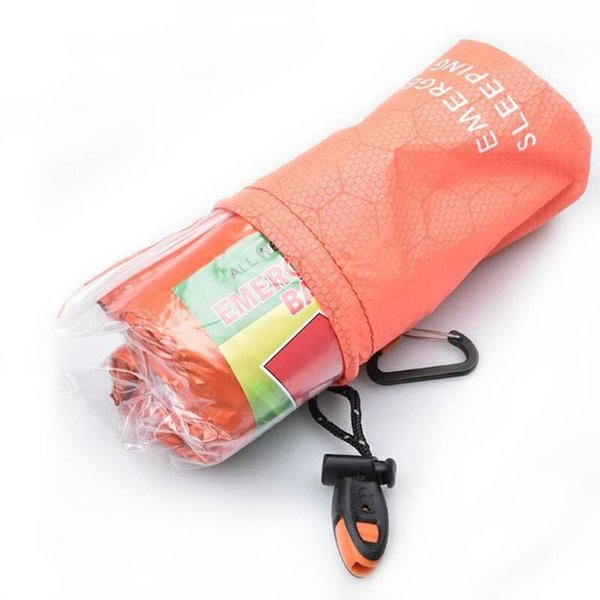 Camping Sleeping Bag Storage Pack Package Outdoor Emergency Sleeping Bag With Drawstring Sack For Camping Travel Hiking