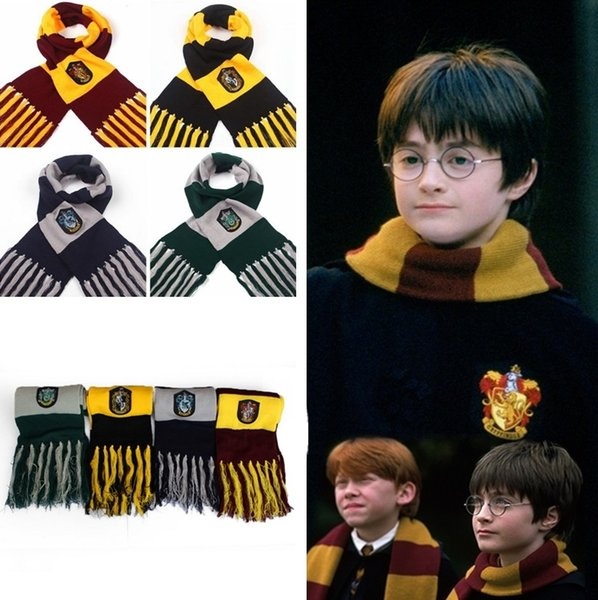 Hot Winter Schals Harry Potter Schals Cosplay Kostüm Serie Hohe Qualität Schals Cute Wraps Abzeichen Persönlichkeit Strick Quaste Schals