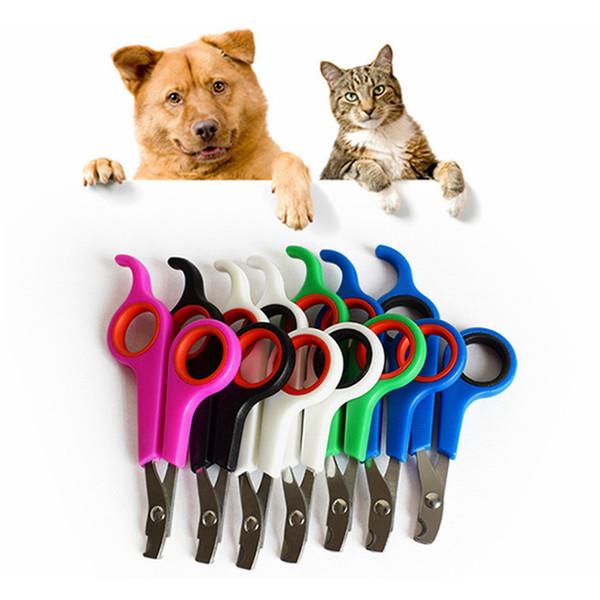 Нержавеющая сталь Pet Nail Clipper собаки кошки ножницы для ногтей триммер уход за домашними животными принадлежности для домашних животных здоровье RRA1822