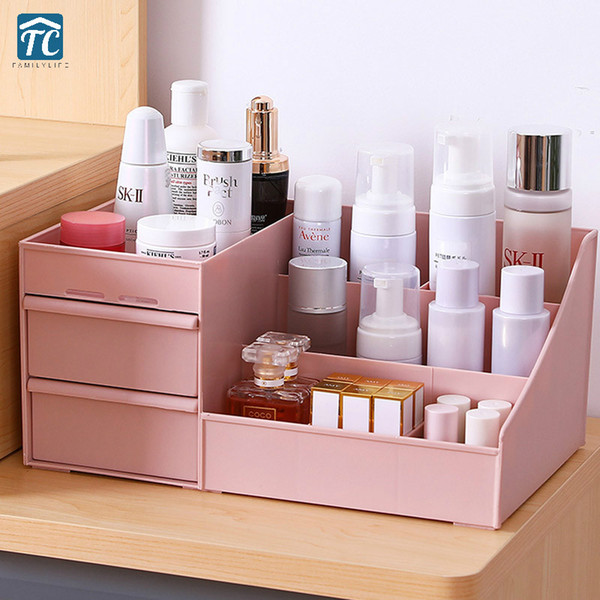 Cosmetic Storage Box Drawer Desktopplastic Makeup Dressing Table Skin Care Rack House Organizer Container Mobile Phone